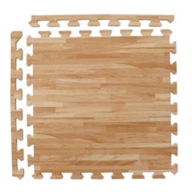 新生活家 EVA耐磨拼花木紋附收邊淺色45x45x1.2cm 12入 廠送
