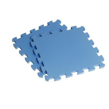 新生活家 EVA素面巧拼地墊32x32x1cm-藍色 40入 廠送