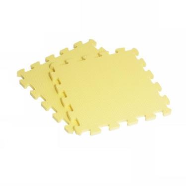 新生活家 EVA素面巧拼地墊32x32x1cm-黃色 40入 廠送
