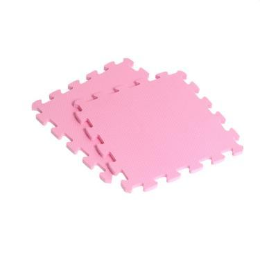 新生活家 EVA素面巧拼地墊32x32x1cm-粉紅色 40入 廠送