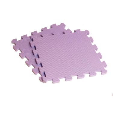 新生活家 EVA素面巧拼地墊32x32x1cm-紫 40入 廠送