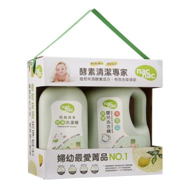 NAC NAC 酵素清潔專家促銷組 (奶蔬酵素洗潔精950ml+酵素洗衣精2000ml)