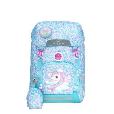 【Beckmann】 兒童護脊書包 22L - 粉藍獨角獸 (廠送)