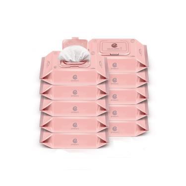 韓國ENBLANC  極柔純水濕紙巾72抽-輕柔木槿花 x10包-廠送