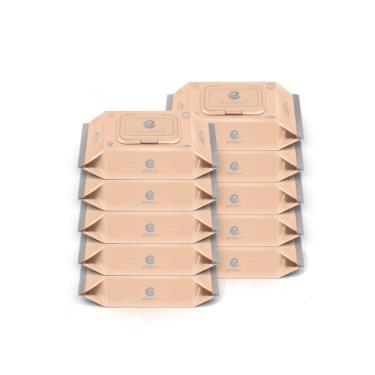韓國ENBLANC  極柔純水濕紙巾72抽-輕柔大馬士革玫瑰 x10包-廠送