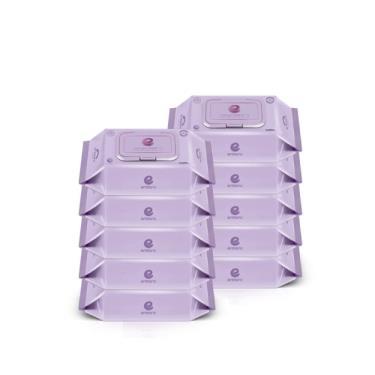 韓國ENBLANC  極柔純水濕紙巾74抽-輕厚野櫻莓 x10包-廠送
