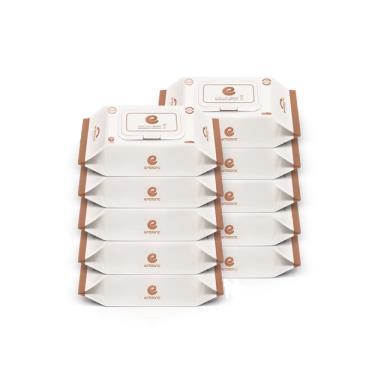韓國ENBLANC  極柔純水濕紙巾74抽-輕厚蓮花 x10包-廠送