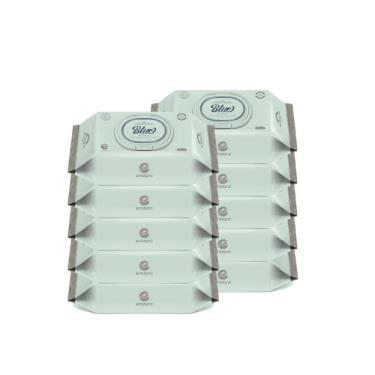 韓國ENBLANC  新生兒極柔純水濕紙巾70抽-極厚藍鳶尾花 x10包-廠送