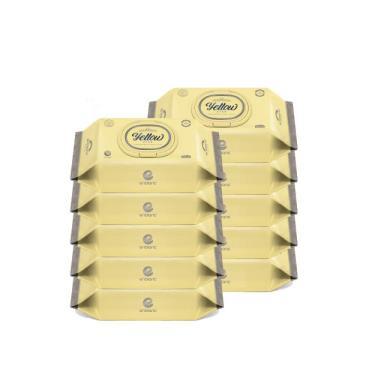 韓國ENBLANC  新生兒極柔純水濕紙巾72抽-輕柔臘菊 x10包-廠送