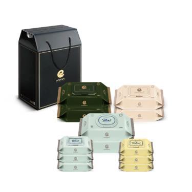 韓國ENBLANC 頂級柔緻新生兒濕紙巾禮盒組12包入-廠送