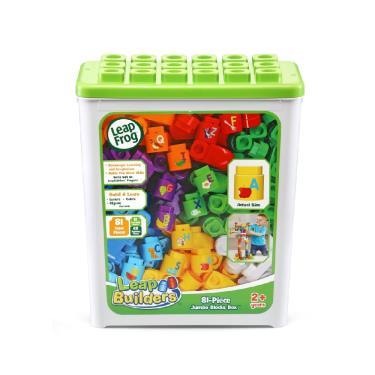 LeapFrog 小小建築師-豪華81件積木補充盒(綠)-廠送