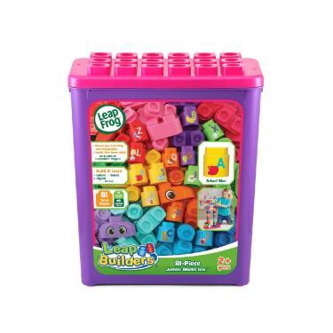 LeapFrog 小小建築師-豪華81件積木補充盒-(粉)-廠送