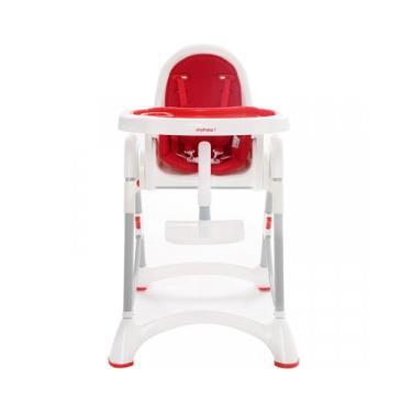 【myheart】折疊式兒童安全餐椅-蘋果紅 (廠送)