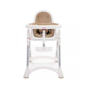 【myheart】折疊式兒童安全餐椅-布朗棕 (廠送)