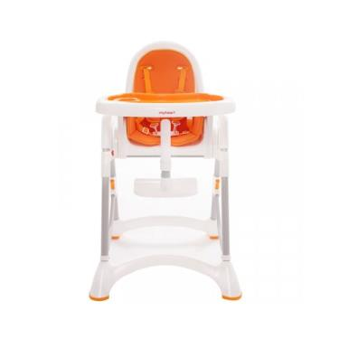 【myheart】折疊式兒童安全餐椅-甜甜橘 (廠送)