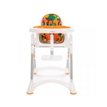 【myheart】折疊式兒童安全餐椅-卡通橘 (廠送)