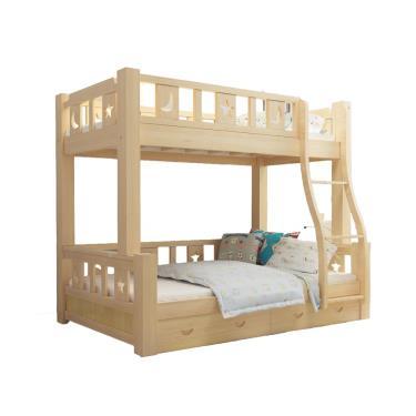 【HA Baby】上下舖床型 上漆可拆-爬梯款 135床型【裸床】-廠送
