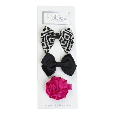 英國Ribbies綜合緞帶3入組(Emme)-廠
