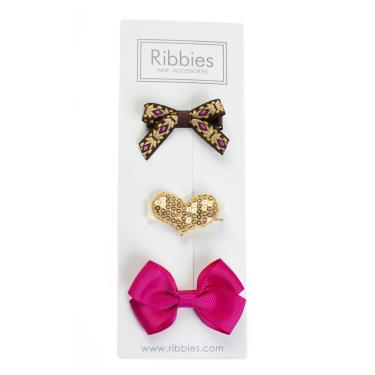 英國Ribbies綜合緞帶3入組(Emma)-廠