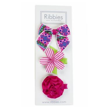 英國Ribbies綜合緞帶3入組(Marissa )-廠
