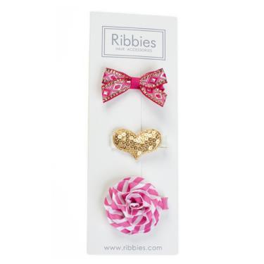 英國Ribbies綜合緞帶3入組(Rosie)-廠