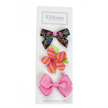 英國Ribbies綜合緞帶3入組(Marley)-廠