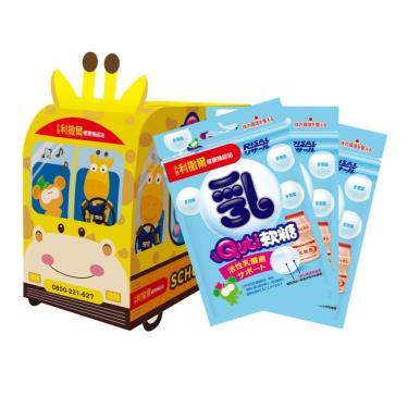 小兒利撒爾 Quti軟糖 長頸鹿校車禮盒-活性乳酸菌 12包入