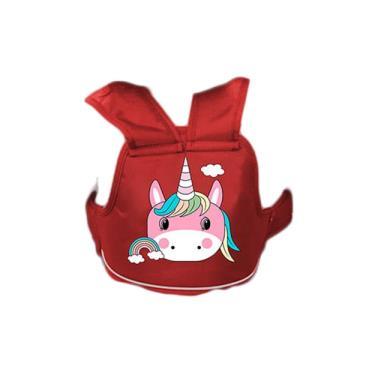【JAR 嚴選】高質感加厚兒童機車安全帶 一入組-紅色獨角 (廠送)