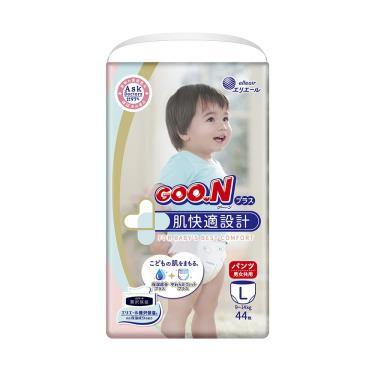 日本大王 肌快適/敏感肌褲型紙尿褲 L132片(44片x3包) 箱購 (廠)