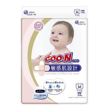 日本大王 敏感肌設計黏貼型紙尿褲/尿布 M256 (64片x4包)箱購 (廠)