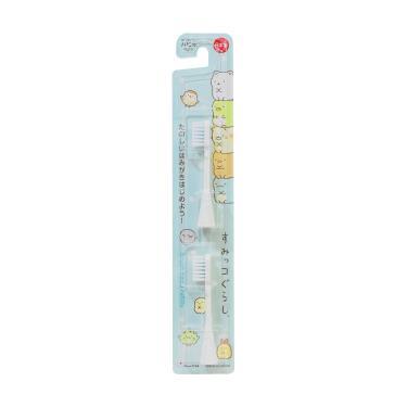 日本 Hapica 角落生物兒童電動牙刷用補充刷頭2入組(藍)