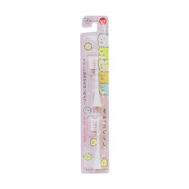 日本 Hapica 角落生物兒童電動牙刷用補充刷頭2入組(粉)