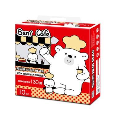 BeniBear邦尼熊  廚師版 抽取式衛生紙130抽10包8袋/箱-廠送