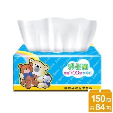BeniBear邦尼熊 抽取式花紋家用紙150抽14包6袋/箱-廠送