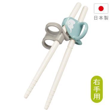 COMBI-三階段彈力學習筷 右手 大象藍(17837)