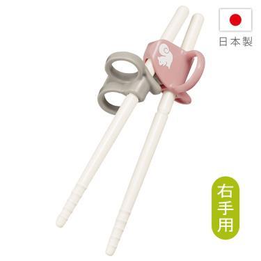 COMBI-三階段彈力學習筷 右手 松鼠粉(17838)