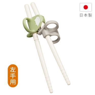 (贈彈力環保收納袋) COMBI-三階段彈力學習筷 左手 刺蝟綠(17839)