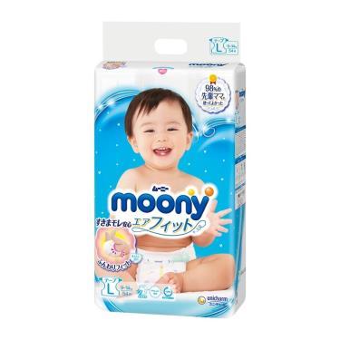 滿意寶寶Moony  日本頂級版紙尿褲L54片/包