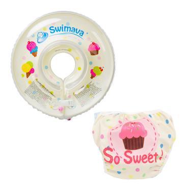 英國 Swimava G1+ S1雪糕嬰兒游泳脖圈/泳褲套裝組-廠