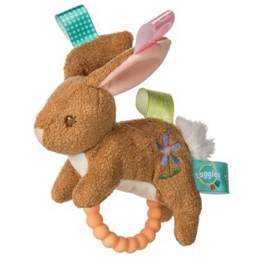 MaryMeyer 典雅精緻彌月禮盒-小麥兔(手搖鈴、沙沙紙、安撫巾-廠送