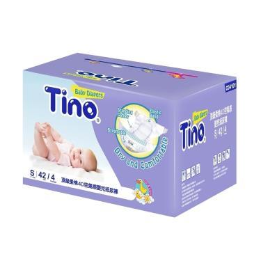 (送小風扇)Tino小安安 頂級柔綿4D紙尿褲(S42片X4包/箱購)-廠送 09/30