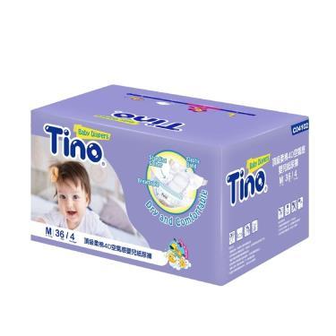 (送小風扇)Tino小安安 頂級柔綿4D紙尿褲(M36片X4包/箱購)-廠送 09/30