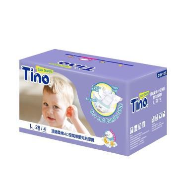 (送小風扇)Tino小安安 頂級柔綿4D紙尿褲(L28片X4包/箱購)-廠送 09/30