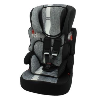 法國Nania 納尼亞 成長型安全汽座/汽車安全座椅 條紋灰 (廠)