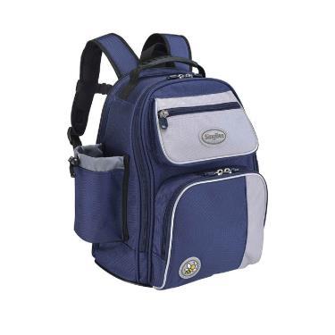 【SingBee 欣美】BP-08 小哈佛護背書包 (雙色版)-藍色 廠送