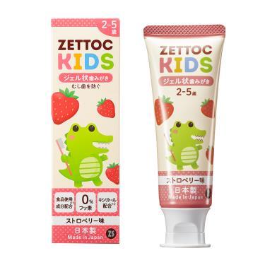 Zettoc澤托克 小鱷魚幼兒凝膠牙膏 草莓口味70g
