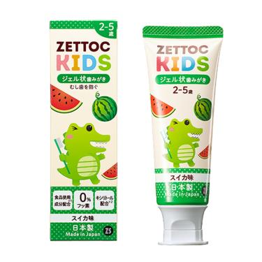 Zettoc澤托克 小鱷魚幼兒凝膠牙膏 西瓜口味70g