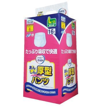 日本一番 成人復健褲L-LL號16片x4包/箱 (加厚型)-廠送