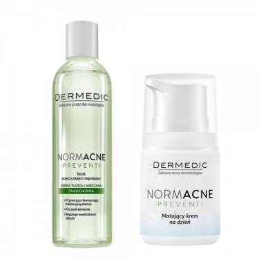 波蘭 得美媞DERMEDIC 純淨肌超控油平衡油水組-(化妝水200ml+輕質乳霜55ml)(廠送)