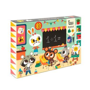 荷蘭Petit Monkey歡樂校園拼圖(24片/3Y+)-廠